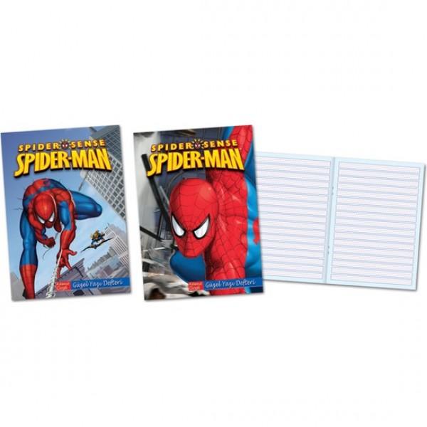 Keskin 280200-06 Spiderman A4 Güzel Yazı Defteri 40 Yaprak