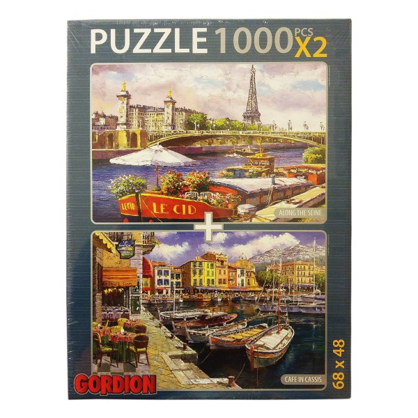 Gordion Games Cafe In Classis - Along The Seine 2 x 1000 Puzzle NET FİYAT
