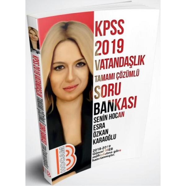 Benim Hocam Yayınları 2019 KPSS Vatandaşlık Tamamı Çözümlü Soru Bankası