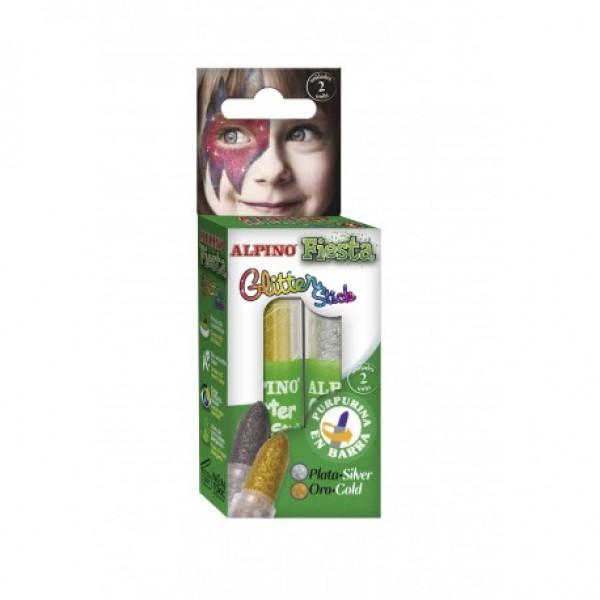 Alpino Fiesta Glitter 2 Li Yüz Boyası (Stick)