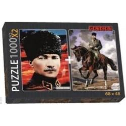 Atatürk ve Atatürk Portre 1000 pcs. Puzzle(2 adet)  NET FİYAT