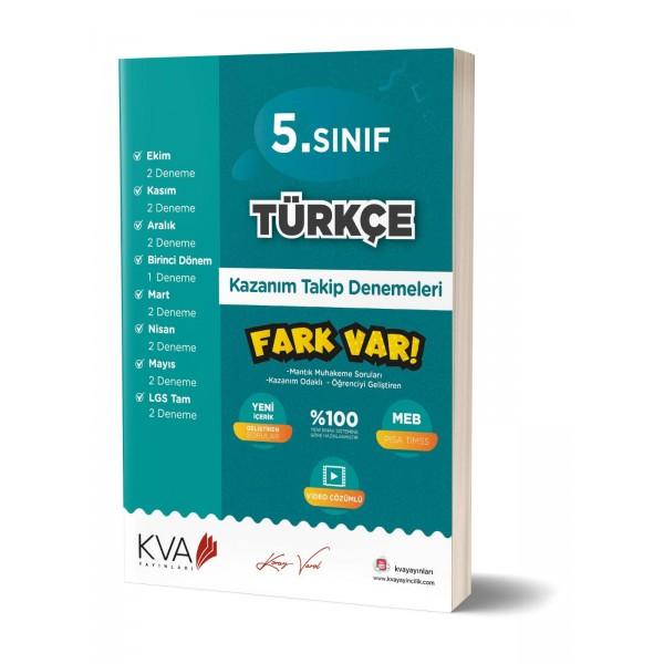 Kva Yayınları 5. Sınıf Türkçe Fark Var Kazanım Takip Denemeleri