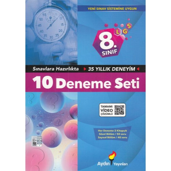 8. Sınıf LGS 10 Deneme Seti Aydın Yayınları