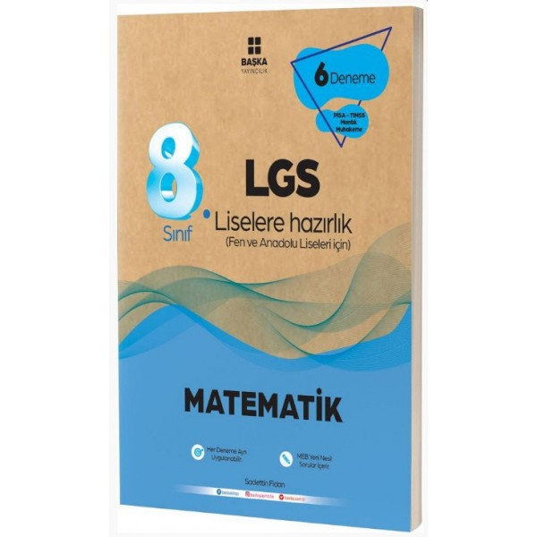 8.Sınıf Lgs Matematik 6 Lı Deneme Başka Yayınları