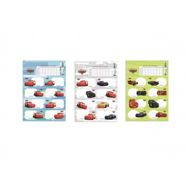 Cars Ders Prog.3Lü Etiket