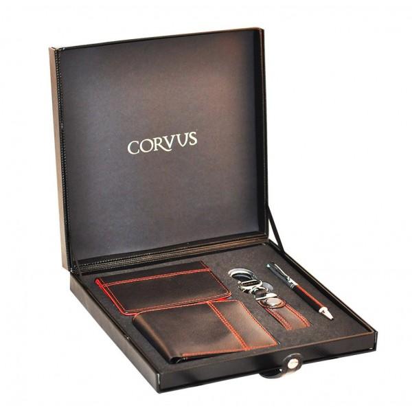 CV 09 Corvus Tükenmez Kalem-Cüzdan-Kartlık ve Anahtarlık Dörtlü Hediye Seti