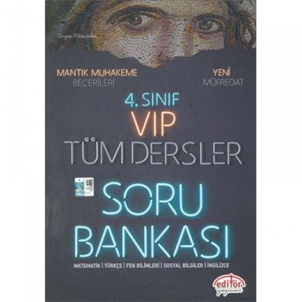 4. Sınıf VIP Tüm Dersler Soru Bankası Editör Yayınevi