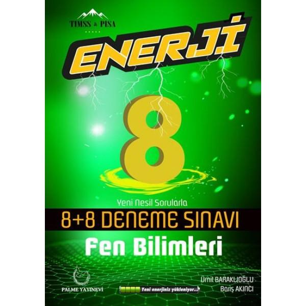 8. Sınıf Fen Bilimleri Enerji 8 Artı 8 Deneme Sınavı Palme Yayınevi