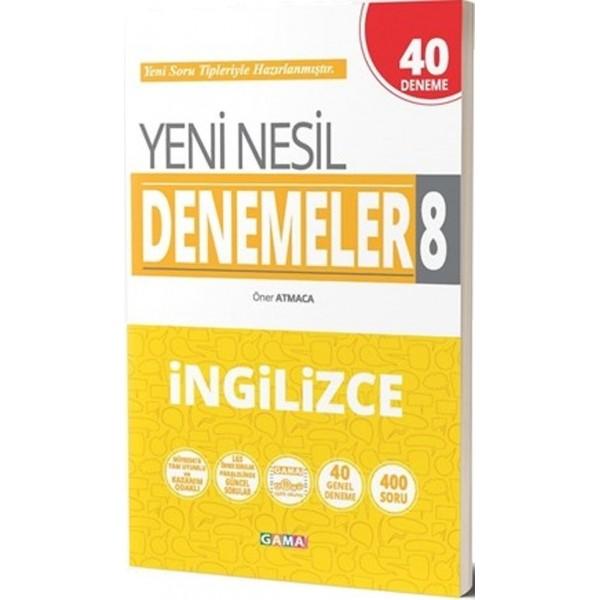 8.Sınıf LGS İngilizce Yeni Nesil 40 Genel Deneme Gama Yayınları