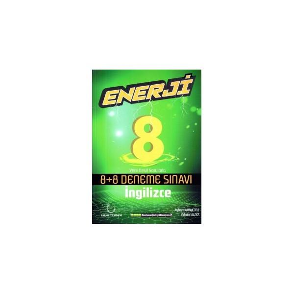8. Sınıf İngilizce Enerji 8 Artı 8 Deneme Sınavı Palme Yayınevi