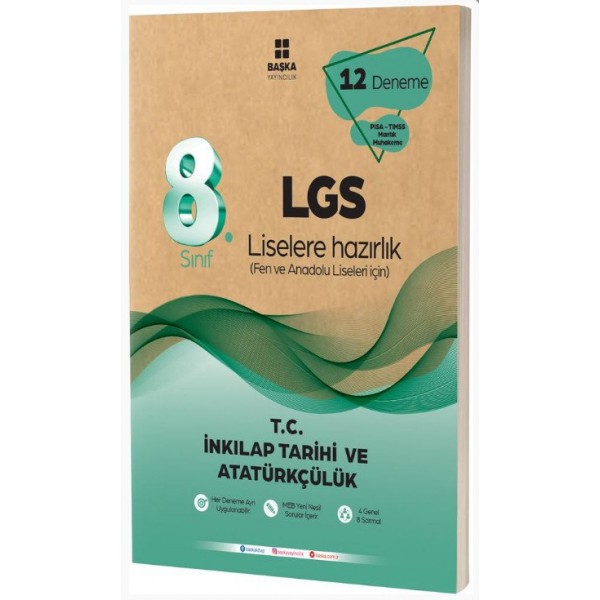 8.Sınıf LGS T.C. İnkılap Tarihi ve Atatürkçülük 12 li Deneme