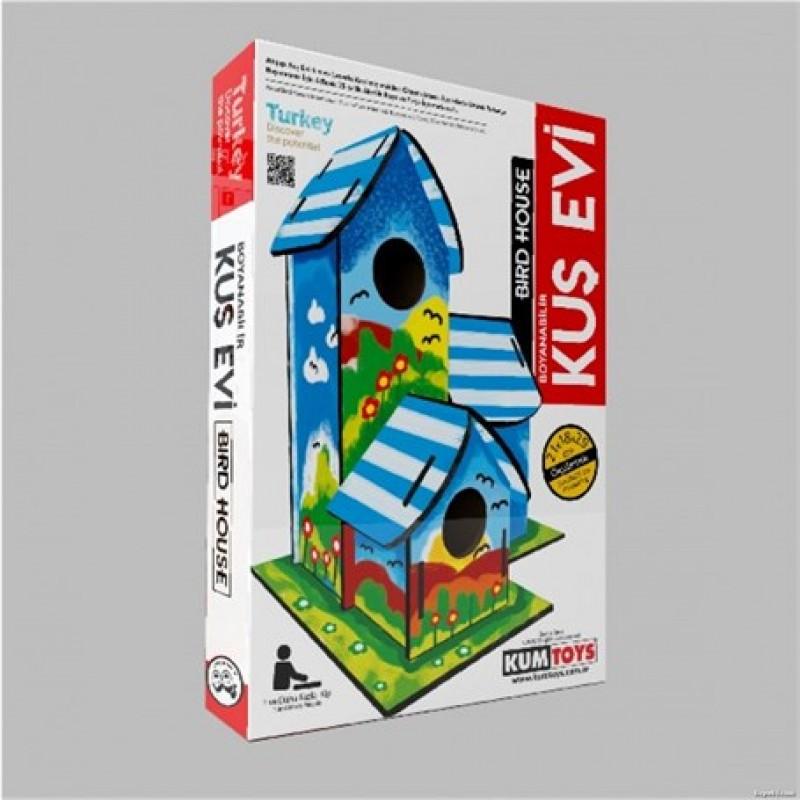 Boyanabilir Kus Evi Bird House Kum Toys