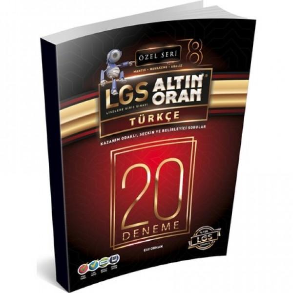 Lgs Altın Oran Türkçe 20 Deneme Özel Seri Borealis Yayıncılık
