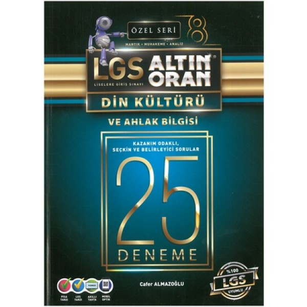 Lgs Altın Oran Din Kültürü ve Ahlak Bilgisi Deneme Özel Seri Borealis Yayıncılık