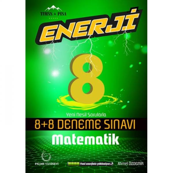 8. Sınıf Matematik Enerji 8 Artı 8 Deneme Sınavı Palme Yayınevi