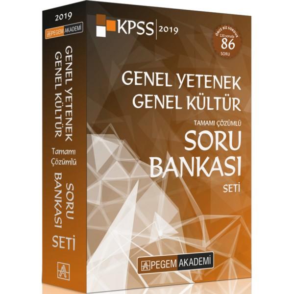 2019 KPSS Genel Yetenek Genel Kültür Tamamı Çözümlü Soru Bankası Seti 5 Kitap Pegem Yayınları