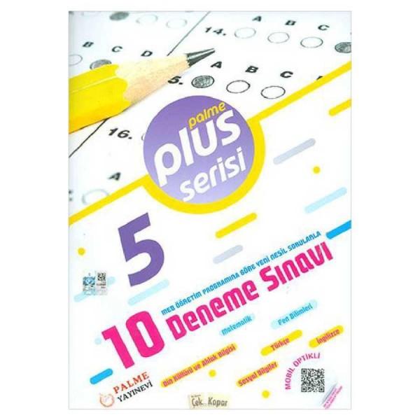5. Sınıf Plus Serisi 10 Deneme Sınavı Palme Yayınları