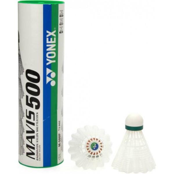 GRS 500 Beyaz 6'lı Plastik Badminton Topu