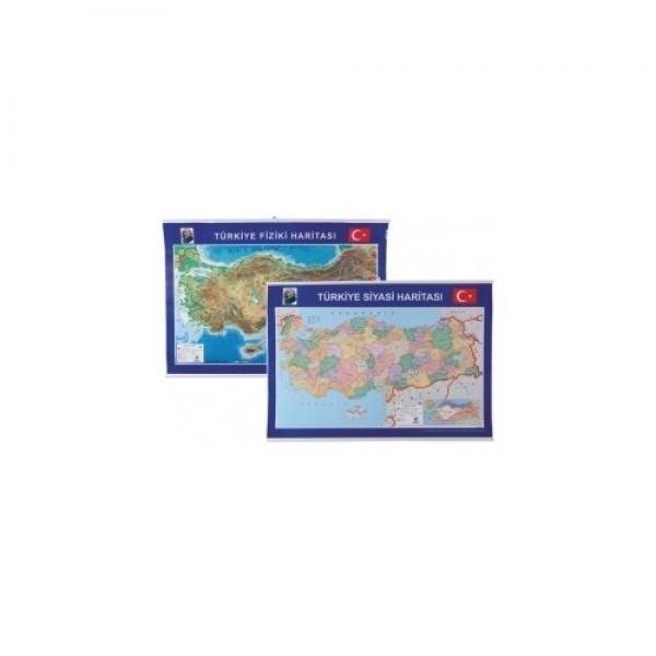 Gülpaş Türkiye Fiziki Siyasi Harita 70 X 100