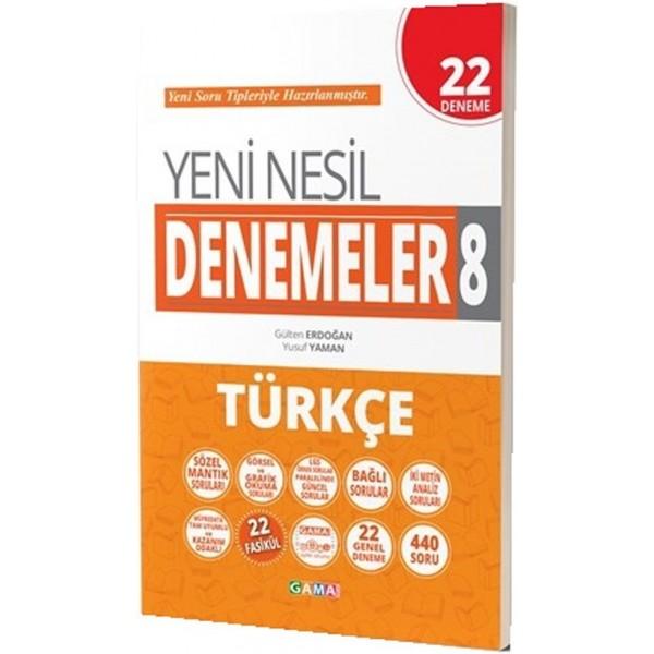 8.Sınıf LGS Türkçe Yeni Nesil 22 Genel Deneme Gama Yayınları