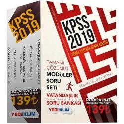 2019 KPSS Genel Yetenek Genel Kültür Soru Bankası Modüler Set Yediiklim Yayınları